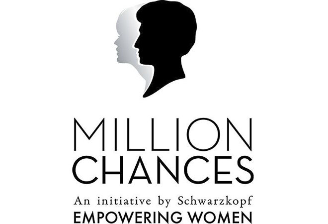 Logo of Million Chances charity initiative by Schwarzkopf.