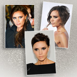 Victoria Beckham with Different Hairstyles